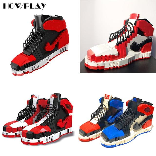 f9e94f2cec Howplay Black red AJ1 blocks in Chicago Basketball shoes gift boyfriend toy  mandarin duck for air