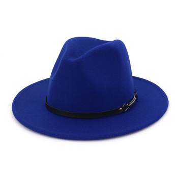 b9eb4d32399be Las mujeres lana hueco occidental Sombrero de vaquero Roll-up de ala ancha  vaquera Jazz ecuestre Sombrero gorra con cinta delgada AD0842