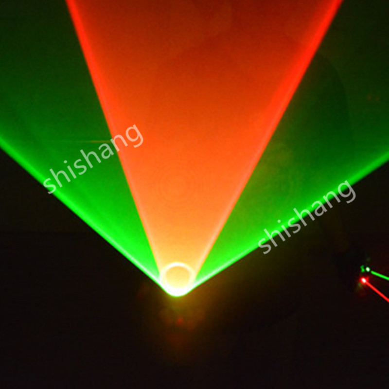 TT Colorful 1 red and 1 green 2 heads laser vortex light gloves/Disco dj clube bar ballroom dance costumes stage Swirl whirlpool