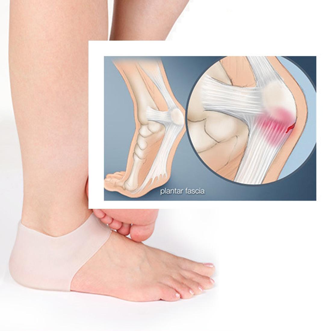 Anti Crack 1 Pair Silicone Gel Comfortable Shoes Heel Inserts Moisturising Heel Protectors For Foot Care Heelpiece Socks