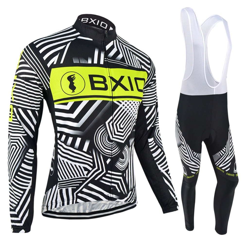 BXIO Brand Winter Bicycle Jersey Warm Thermal Fleece Bike Clothes Autumn Long Sleeve Pro Team Cycling Jerseys Ropa Ciclismo 049 meilunna christmas black friday customize movie hockey jerseys mighty ducks 2 team rival iceland team 9 gunnar stahl jersey