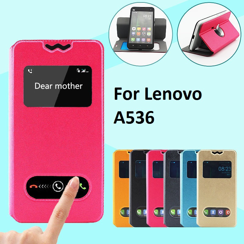 brand new 5fe1e d17d0 US $5.8 |Luxury View Window Flip Leather Phones Case For Lenovo A536  ,Holster Back Cover For Lenovo A536 on Aliexpress.com | Alibaba Group