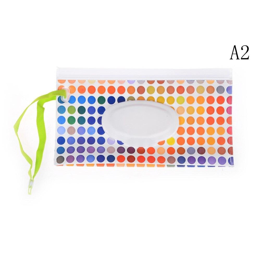 Легко переносить клатч и чистые салфетки чехол для переноски экологичная Упаковка для влажных салфеток раскладушка косметический мешок защелкивающийся ремень салфетки контейнер - Цвет: 1pcs