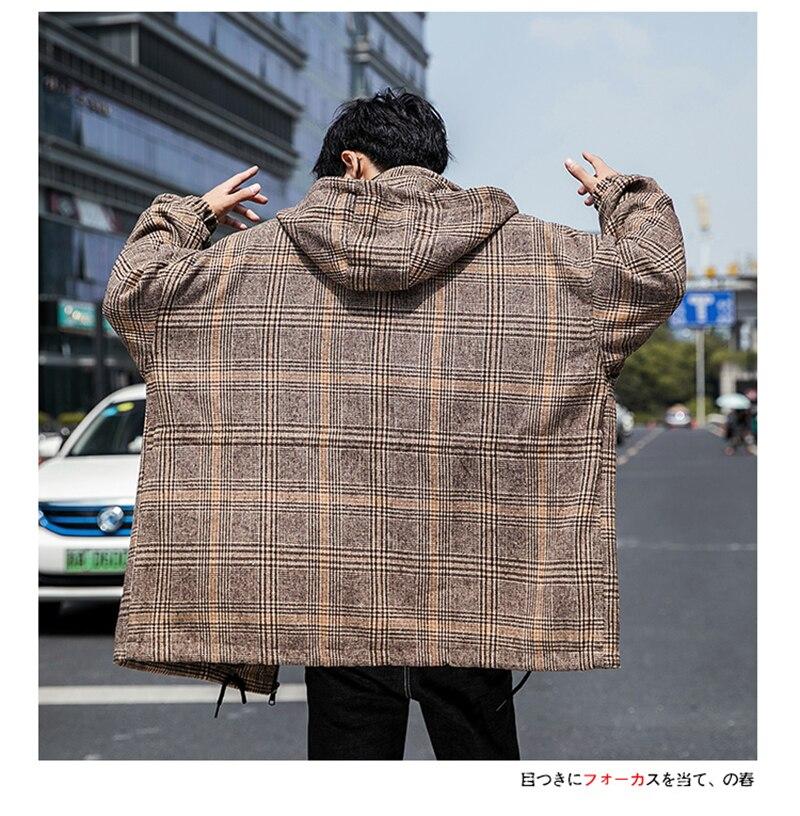 Male Long Coat Oversize Lapel Button Sobretodos Hombre Overcoat Streetwear (32)