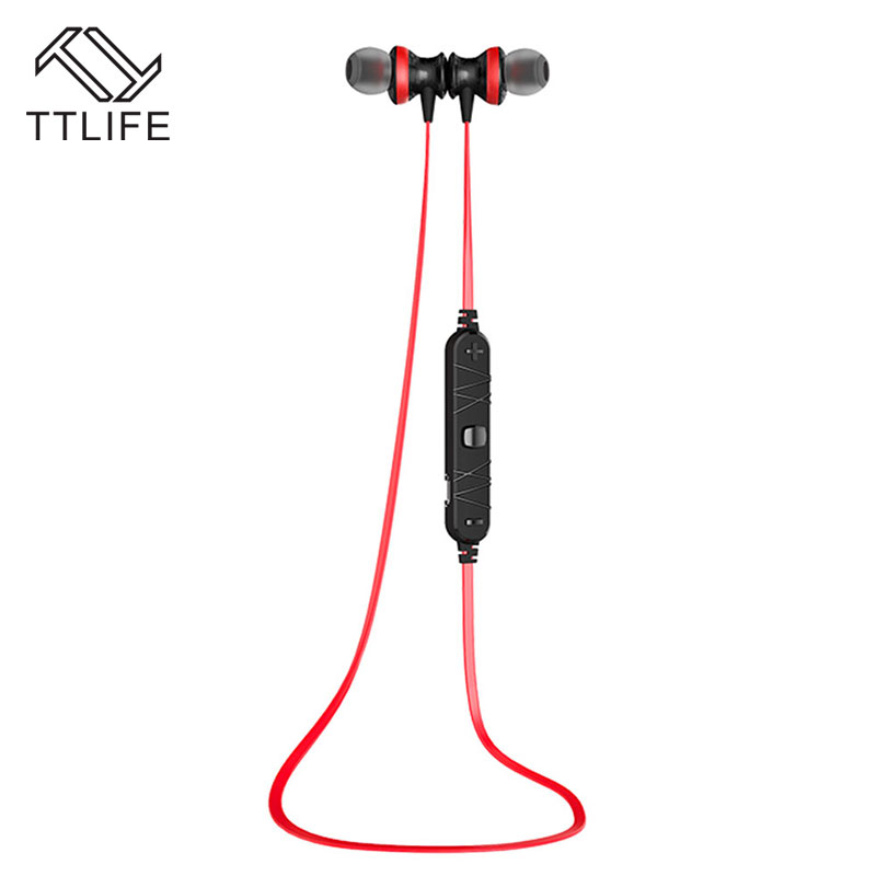 цены  TTLIFE New Original bluetooth 4.0 Earphone wireless Magnetic sport stereo music Earbuds Auriculares with mic for iPhone Android
