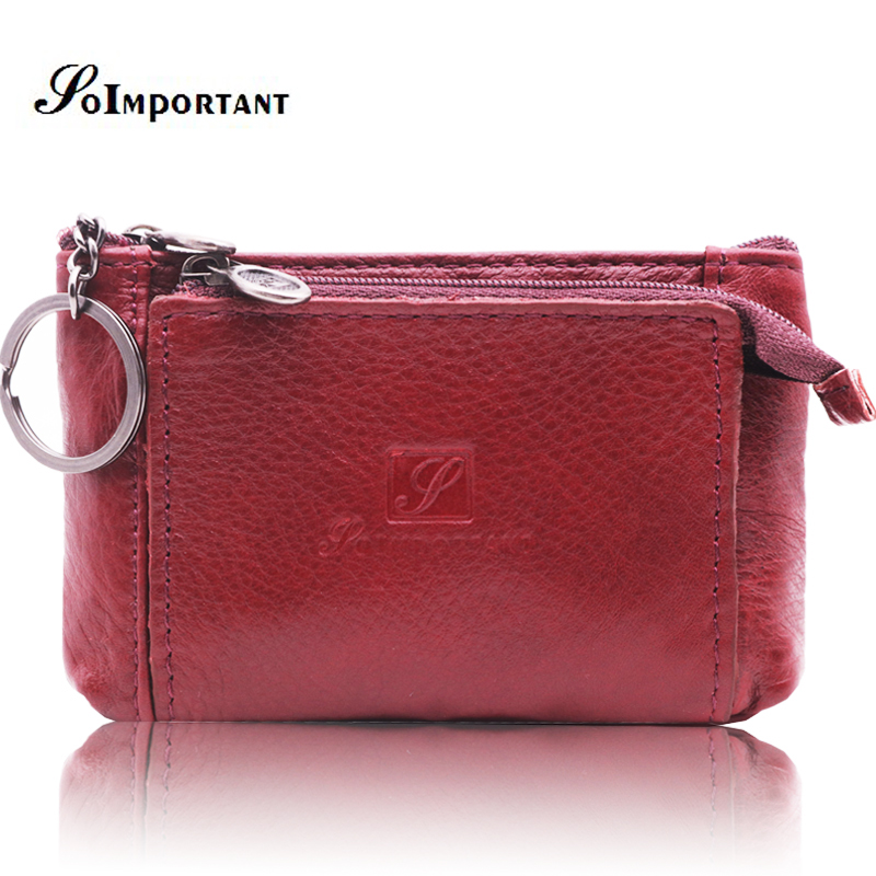 Genuine Leather Mini Women Wallets Female Small Wallet Zipper Lady Coin Purse Magic Walet Money Bag Card Holder Key Ring Vallet kavis 2017 fashion genuine leather women wallet female walet lady magic vallet money bag clutch handy for girls rfid coin purse
