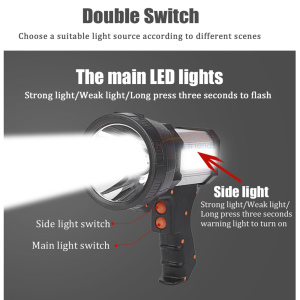 Image 2 - Superbright Tactical Handheld Spotlight Gun Flashlight Rechargeable 18650 Battery Included 3 mode Light USB Power Charger