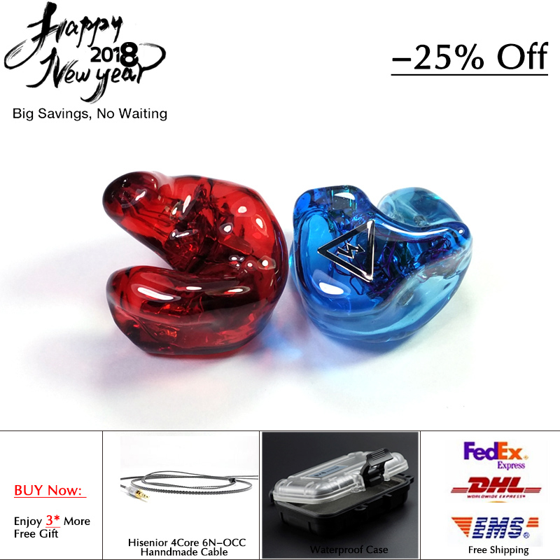 Hisenior T8 8 16Units Balanced Armature Drivers Custom Fit CIEMs Noise Cancelling In ear Monitor Earphone