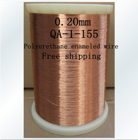 Free shipping 0.2mm *1000m QA-1-155 Polyurethane enameled Wire Copper Wire enameled Repair cable 0 1mm 1000m pc length qa 1 155 polyurethane enameled wire copper wire enameled repair