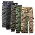 2017 Mejores Ventas de Otoño Caliente multi-bolsillo de Los Hombres Pantalones Casuales Para Hombre Pantalones de Carga (Tamaño de Asia)