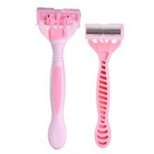 5136d0b59b YING JILI Manual Shaving Women Six-Layer Blades Full Bady Hair Remover  Portable 2 Pcs