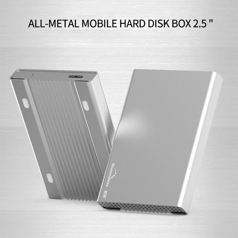 Aluminum HDD Enclosure Mobile Hard Disk Box USB 3.0 2.5