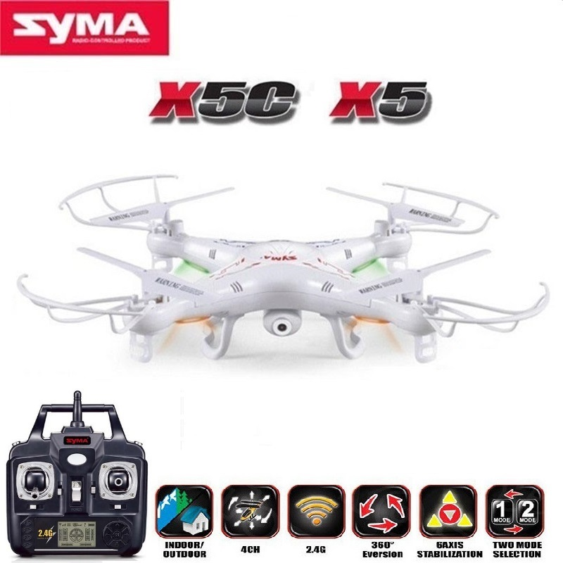 SYMA X5C (Uppgraderingsversion) RC Drone 6-Axis Fjärrkontroll Helikopter Quadcopter Med 2MP HD-kamera eller X5 RC Dron No Camera