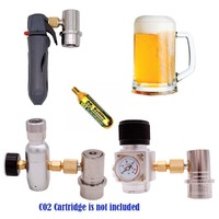 Homebrew Kegging Gas Mini Co2 Regulator with Stainless Ball Lock Gas Disconnect 60 psi 3/8 18UNF Free Shipping