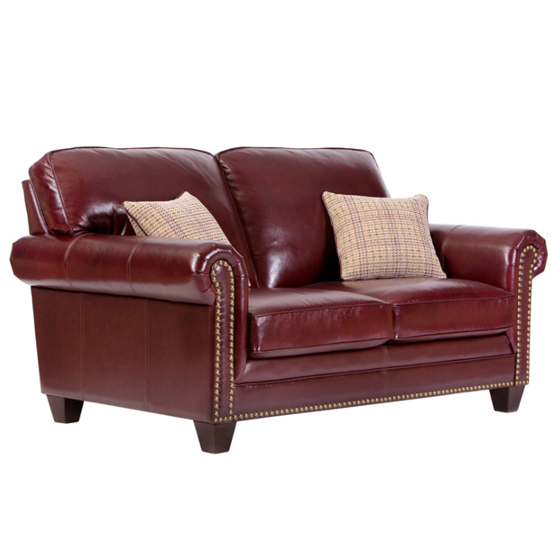 Leather sofa American style living room apartment model room sofa European furniture corner L-shaped combination leather sofa 5
