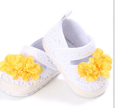 Pudcoco 0 18M First Walker Baby Shoes Toddler Baby Breathable Shoes Toddler Infant Girl Flower Knit