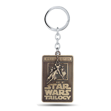Star Wars Keychains Trilogy Letters Keyring Vintage Zinc Alloy Key Chain Gifts