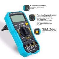 All Sun EM8910 Digital Multimeter Backlight AC/DC Ammeter Voltmeter Ohm Electrical Tester