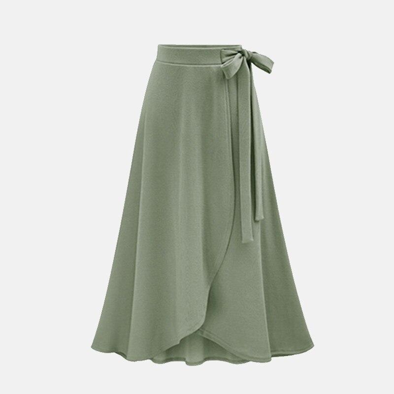 Lotus leaf skirt high waist tie split irregular long skirt Chiffon in Skirts from Women 39 s Clothing
