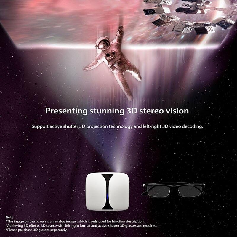 Gigxon G606 MINI projecteur DLP Max 1920*1080 Support HDMI USB WIFI Proyector Portable HD projecteur pour maison jeu cinéma Smartphone - 4