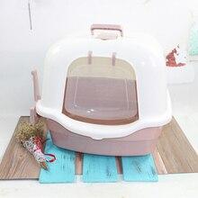 Toilet Bedpan Dog Cat Litter BoxEasy Clean Boxes  Pet Supplies arenero pet litter box cat 30SP006