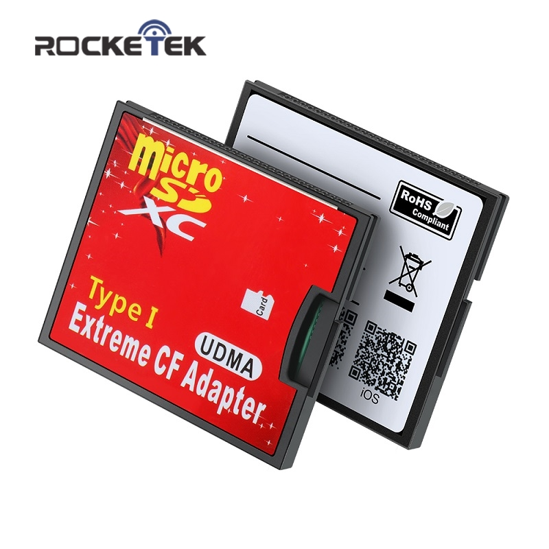 Rocketek Micro SD TF To CF/MS/SD Wifi CF Wifi SD Memory Card Reader Converter Adapter MicroSD Micro SDHC To Compact Flash Type I
