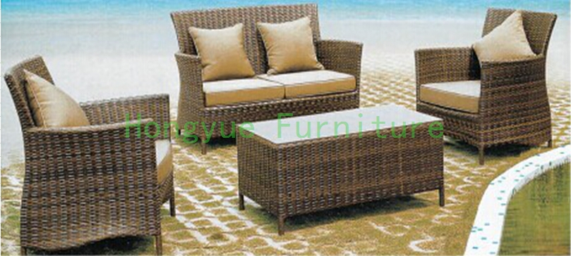 Patio garden sofa set furniture Rattan sofa furniture set
