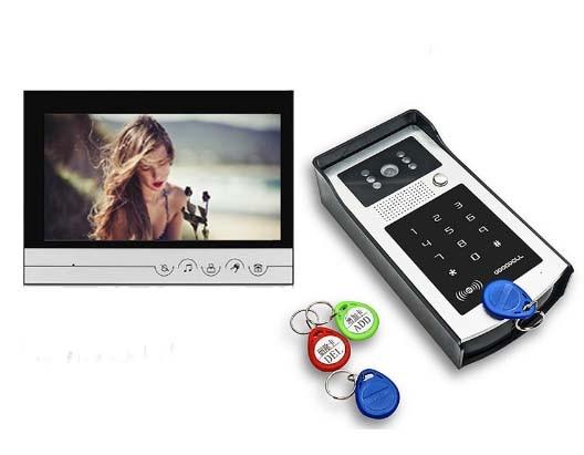XINSILU New Arrival 9 Video Door Phone Touch Key Monitor IR FRID Camera, Intercom Doorbell Home Security Video System 1V1