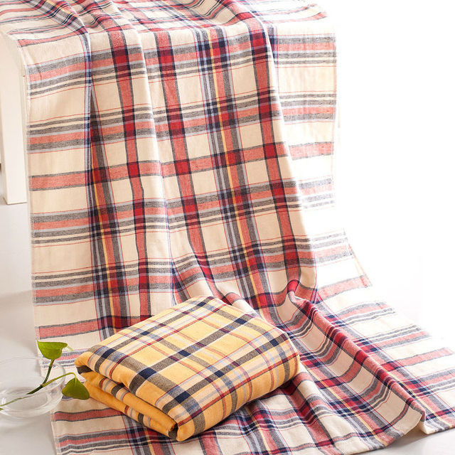 140x70 cm Coton Gaze Technologie Angleterre Plaid Motif Hight ...
