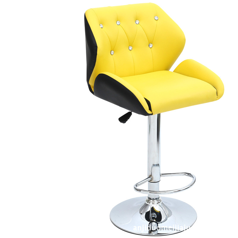 Learned High Quality Ergonomic Short Lifting Swivel Chair Rotating Adjustable Height Pub Bar Stool Chair High Density Sponge Cadeira Bar Chairs