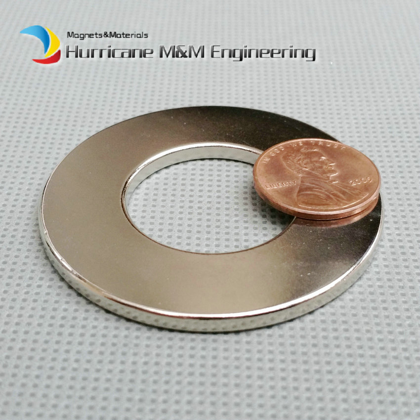 2pcs NdFeB Magnet Ring OD 50x25x3 (+/-0.1)mm thick Strong Neodymium Permanent Magnets Rare Earth Magnetic Tube Precision arrival 8pc 50 25 12 5mm craft model powerful strong rare earth ndfeb magnet neo neodymium n50 magnets 50 x 25 12 5 mm