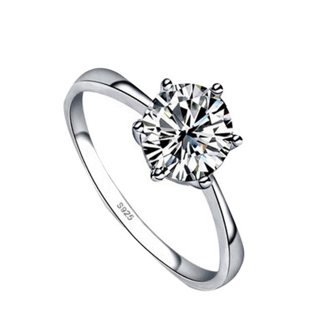 Hohe Qualität Silber Farbe Strass Intarsien Frau Ringe Hochzeit Geschenk RING Verlobung Ringe für frauen Freeshipping