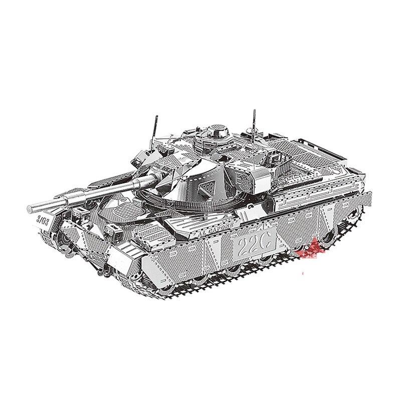 3D Metal Puzzle Chief Tank MK50 Military Model DIY Laser Cut Assemble Jigsaw Toys Desktop Decoration GIFT For Children