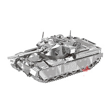 Nanyuan 3D Metal Puzzle Chief tank MK50 Military Model DIY Laser Cut Assemble Jigsaw Toys Desktop decoration GIFT For Audit mu 3d metal puzzle siege tank joint movable model diy 3d laser cut assemble jigsaw toys desktop decoration gift for audit