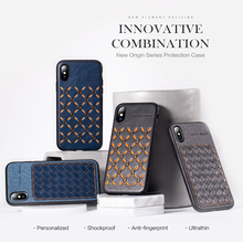 for Apple iPhone X XS XR Max Cover Rock Fashion Anti-knock PU Leather+Silicone Bumper Hybrid Coque Cases