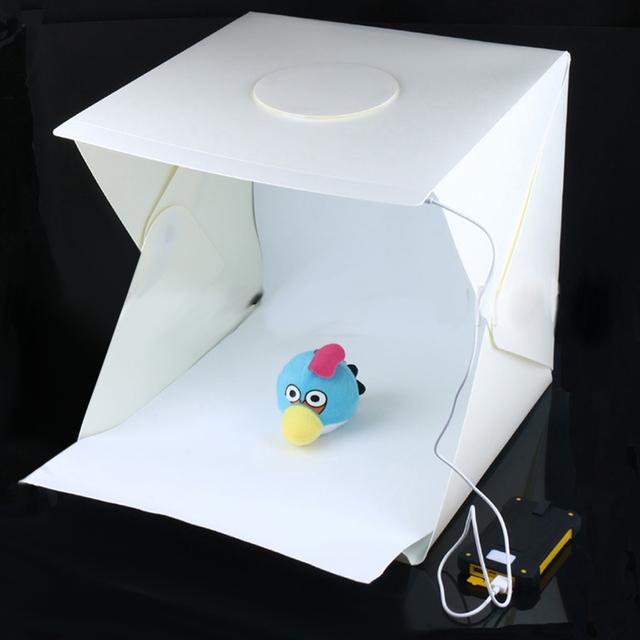 30x30x30 cm Plegable Portátil Mini Photo Studio Incorporado En la caja de Luz Fotografía Telón De Fondo Con USB Cable De Alimentación Blanco FW1S