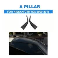 Telhado de Fibra De carbono UM Pilar de Moldagem Exterior R35 Panelfor para Nissan GTR 2009 2010 2011 2012 2013 2014 2015