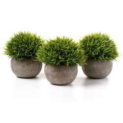 T4U artificial flowers in pots Grass with plantas bonsai Pots flower pots with flower for Home garden decoration 3pcs/lot