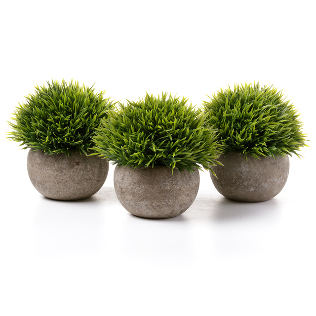 T4U artificial in Grass with plantas bonsai 3pcs/lot