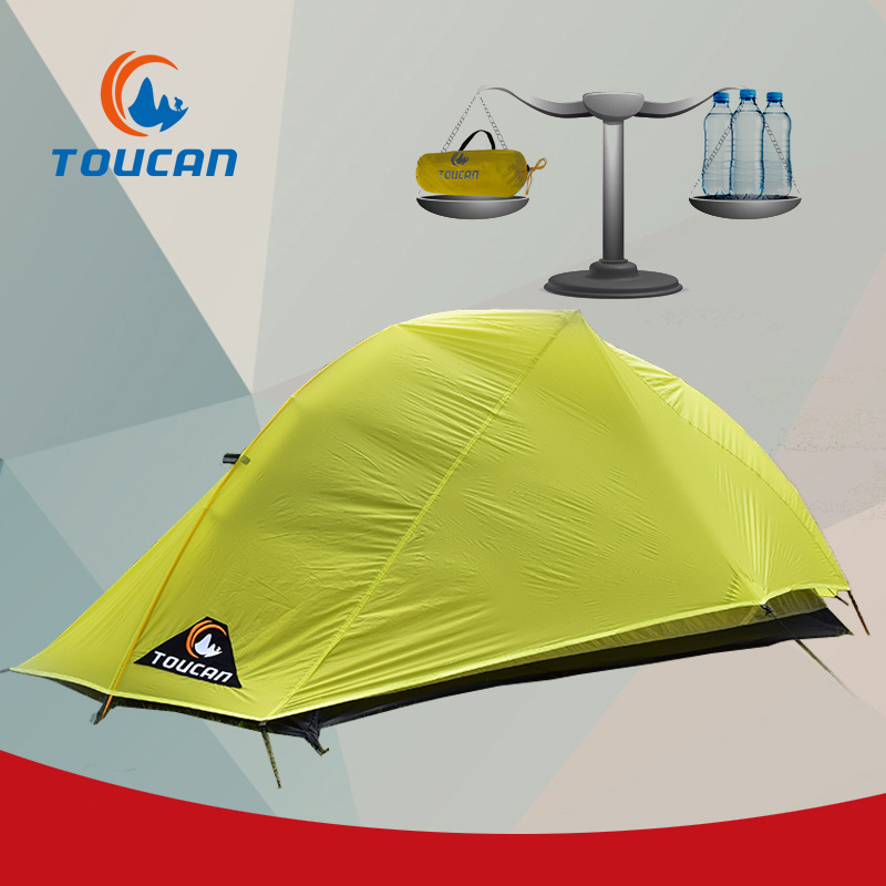 New ultralight Sunshade rainproof silicon Aluminum Alloy double layer professional camping tent miele h 5681 bp ed