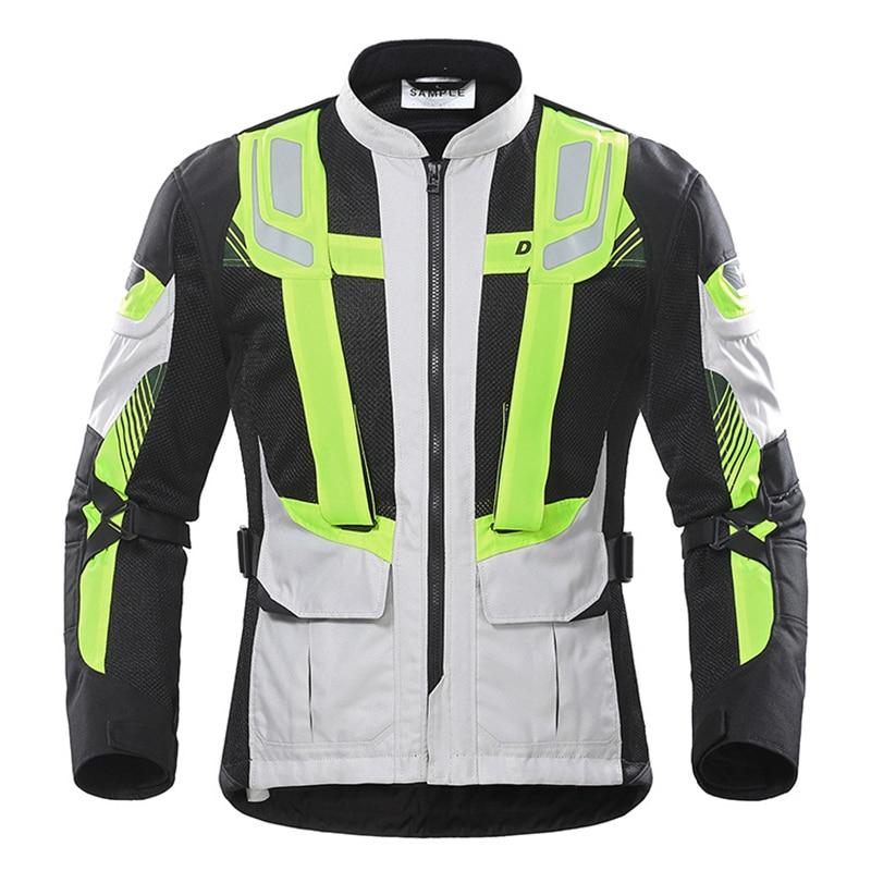 DUHAN Motorcycle Jacket Summer Racing mesh cloth Motorbike Cordura Fabric Breathable Motocross Clothes CE Protectors