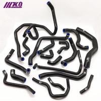 Silicone Radiator Hose Kit For  For  V W GOLF MK7 GT I Audi 3  (19PCS) red\/blue\/black