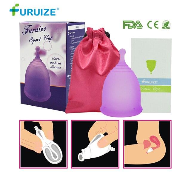 Furuize copa 월경 레이디 컵 여성 위생 재사용 가능한 기간 월경 컵 패드보다 좋은 건강 관리 여성 컵 정장 스포츠
