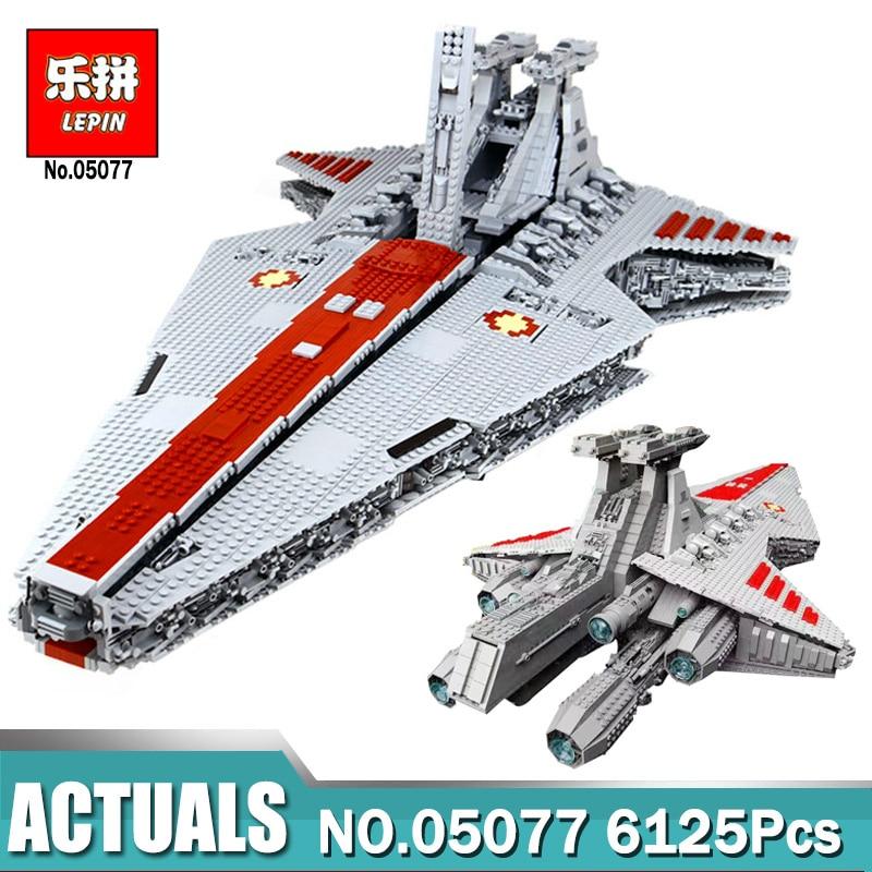6125 pcs Lepin 05077 ÉTOILES La Ngc ST04 Ensemble République Cruiser Éducatifs Blocs de Construction Compatible Legoing GUERRES Jouets