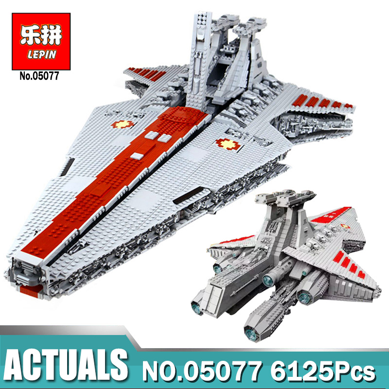 6125PCS Lepin 05077 STAR The Ucs ST04 Set Republic Cruiser Educational Building Blocks Compatible Legoing WARS Toys