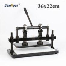 36×22 см двойное колесо плюс ручной станок для резки кожи, фотобумага BateRpak, резак листов ПВХ, машина для резки кожи