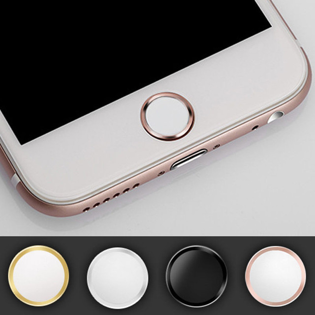 factory price 8296b cf059 US $1.94 35% OFF|4pcs/lot Touch ID Button Aluminum Home Button Sticker For  iphone 7 7Plus 6 6S Plus 5 5S SE 5 With Finger Identification Function-in  ...
