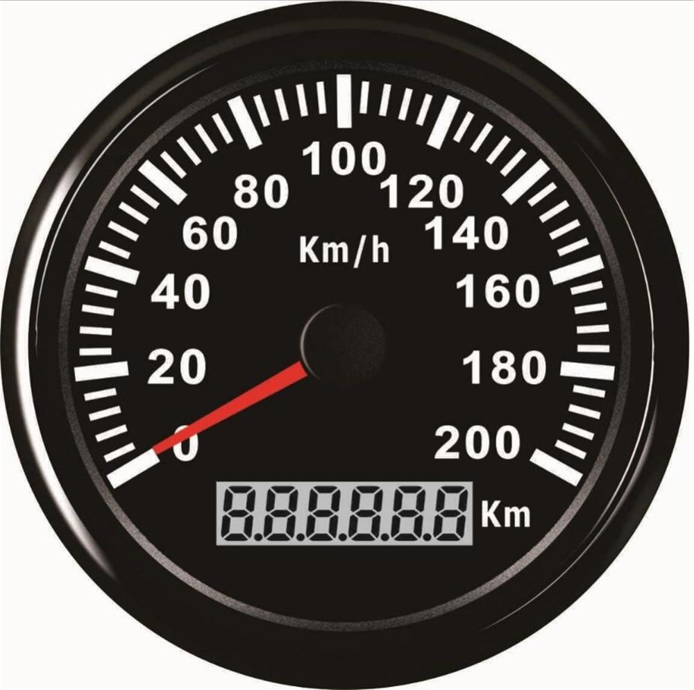 1 stk 85mm autotuning målere sort GPS hastighedsmålere Ratemetre - Bilreservedele - Foto 4