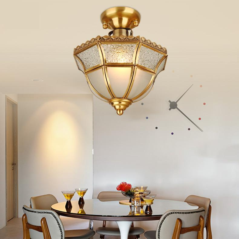 High Brightness Modern Ceiling lights Ceiling Led Lamp Living Room Lights Retro Warm Simple Copper Ceiling Lamps
