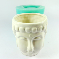 PRZY Silica gel silicone mold 3d vase molds cement flowers pots Buddha head mould classic Home furnishings desktop decorations